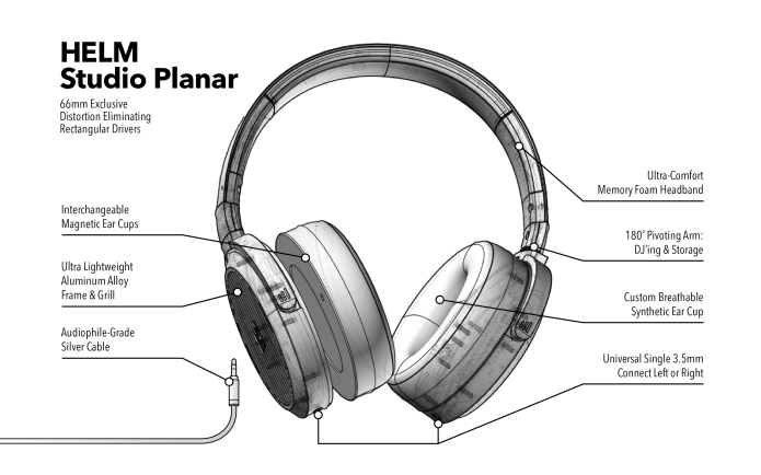 Helm Audio Release Studio Planar Headphones And Boost Cable On IndieGogo.